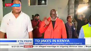 Global icon cum  businessman T.D. Jakes received  in Kenya in styles