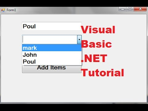 Visual Basic .NET Tutorial 43 – How to use a combobox Visual Basic .NET