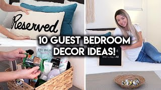 GUEST ROOM MAKEOVER | BEDROOM DECOR IDEAS