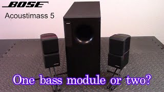 Bose Acoustimass 5 speaker review and demo - Are two bass modules better than one?