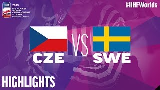 Czech Republic Vs. Sweden   Highlights   2019 IIHF Ice Hockey World Championship