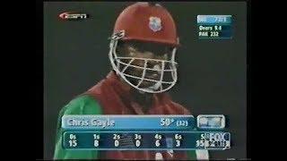 Chris Gayle Destroyed Waqar Younis and Shoaib Akhtar 2nd ODI 2002