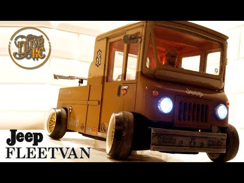 "RC DRIFT CAR  ""JEEP FLEETVAN"" MADE FROM SCRATCH"