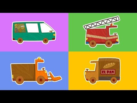 ¡Coches de juguete! Dibujos animados de carros y coches grandes