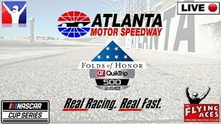 NASCAR LIVE: ATLANTA: Folds Of Honor - QuikTrip 500: IRacing: Flying Aces: 14 March 2020
