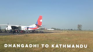 preview picture of video 'Shree Airlines CRJ-700 Take off from Dhangadhi'