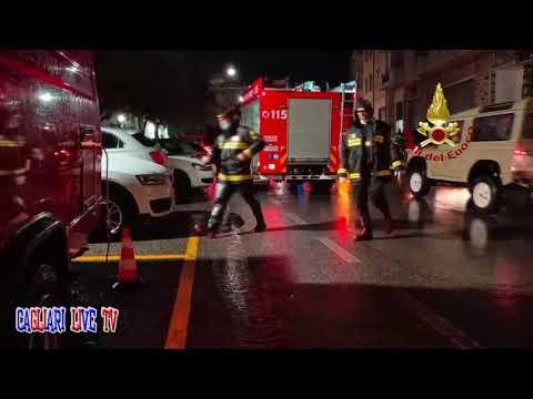 Preview video BITTI. Vigili del Fuoco prestano soccorso dopo la devastazione.  VIDEO
