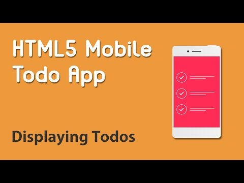 HTML5 Programming Tutorial | Learn HTML5 Mobile Todo App - Displaying Todos