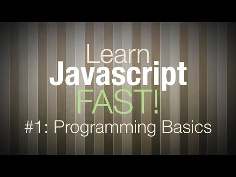 Javascript Tutorial – Programming Tutorial for Beginners Pt 1
