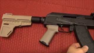 Draco AK-47 Upgrades- KAK Industries Stabilizing Brace & Magpul Grip