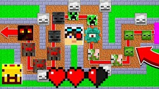 МЫ С АИДОМ ПОКАЗЫВАЕМ ТОП КОМАНДНУЮ ИГРУ! ТД МАЙНКРАФТ! | Minecraft Tower Defence
