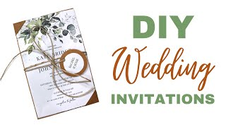 DIY Wedding Invitations On A Budget | EASY DIY INVITATIONS