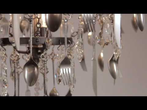 Video for Bistro Graphite Six Light Chandelier with Crystal Glass