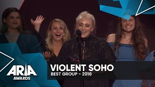 Violent Soho Win Best Group | 2016 ARIA Awards