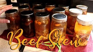 Canning Beef Stew for Quick Easy Winter Meals