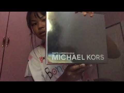 White Luminous Gold Michael Kors Unboxing