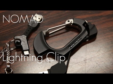 Nomad Lightning Charging Clip / Carabiner –  iPhone / i-Devices – Review / Demo