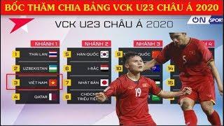 Bốc Thăm Chia Bảng VCK U23 Châu Á 2020 Khi Nào? Đại Kình địch đang đợi Việt Nam ở Seagames 2019
