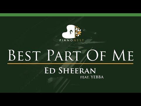 Ed Sheeran - Best Part Of Me (feat. YEBBA) - LOWER Key (Piano Karaoke / Sing Along)