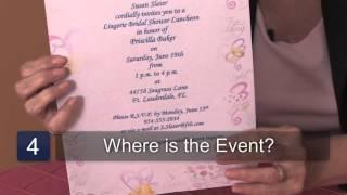 Etiquette for Bridal Shower Invitations