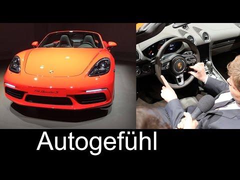 REVIEW & INTERVIEW new Porsche 718 Boxster S 350 hp Geneva Motor show