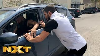 Johnny Gargano tries to chase down Tommaso Ciampa in the WWE PC parking lot: March 24, 2018 | Kholo.pk