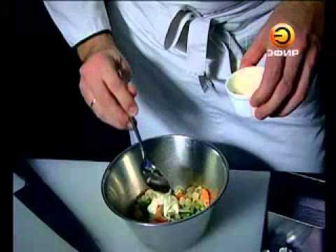 Салат из раковых шеек