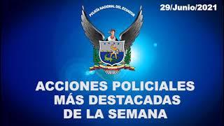 Acciones policiales más destacadas de la semana