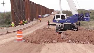 Ongoing Border Wall Construction in Arizona