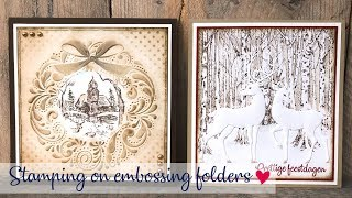 Stamping On Embossing Folder | Nellie Snellen