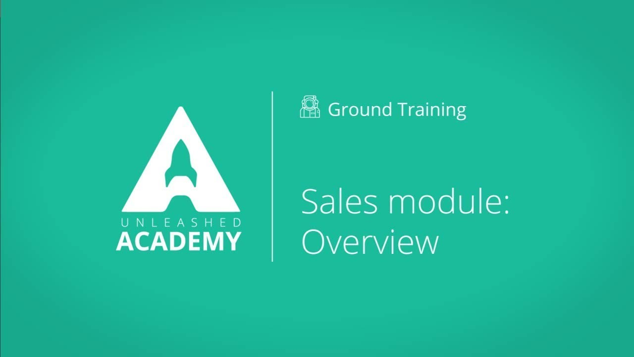 Sales module: Overview YouTube thumbnail image