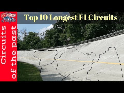Top 10 Longest F1 Circuits - Circuits of the past