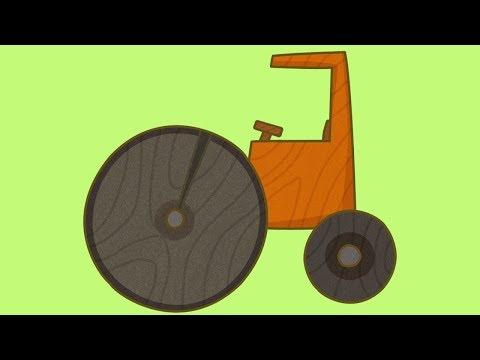Coches de juguete. La apisonadora. Dibujos animados españoles.