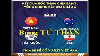 SỐC! Lộ Kết Quả U23 Châu Á 2020-Việt Nam Vào Bảng TỬ THẦN