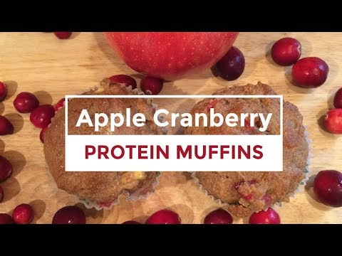Fall Cooking Series 2017 | Apple Cranberry Protein Muffins | 1 smart point!