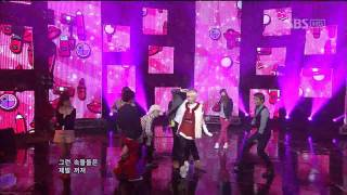 FATCAT-Is Being Pretty Everything (예쁜 게 다니) @SBS Inkigayo 인기가요 20120108