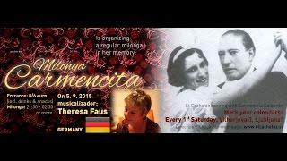 Milonga Carmencita s Thereso Faus v klubu El Cachafaz (HD v slovenščini, Italian subs)