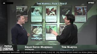 Pro Tour Battle for Zendikar Tournament Center: Drafting with Tom Martell