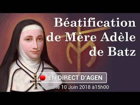 Messe de béatification de Mère Adèle de Batz de Trenquelléon à Agen