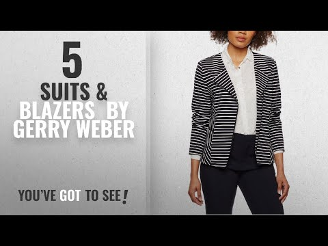 Top 10 Gerry Weber Suits & Blazers [2018]: Gerry Weber Women's Preppy Chic Blazer