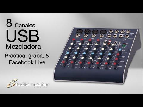 USB mixer C2S 4 Descripción -Español