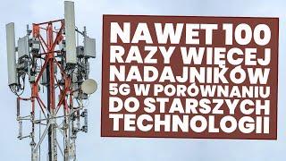 Nawet 100 razy więcej nadajników 5G w porównaniu z 3G/4G/LTE!
