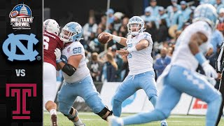 North Carolina vs. Temple Military Bowl Highlights (2019)