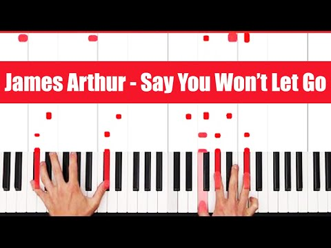 Say You Wont Let Go James Arthur Easy Piano Chords Tutorial With Pgn