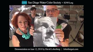California Vibe Watercolor Portraiture™ Demonstration At The San Diego Watercolor Society