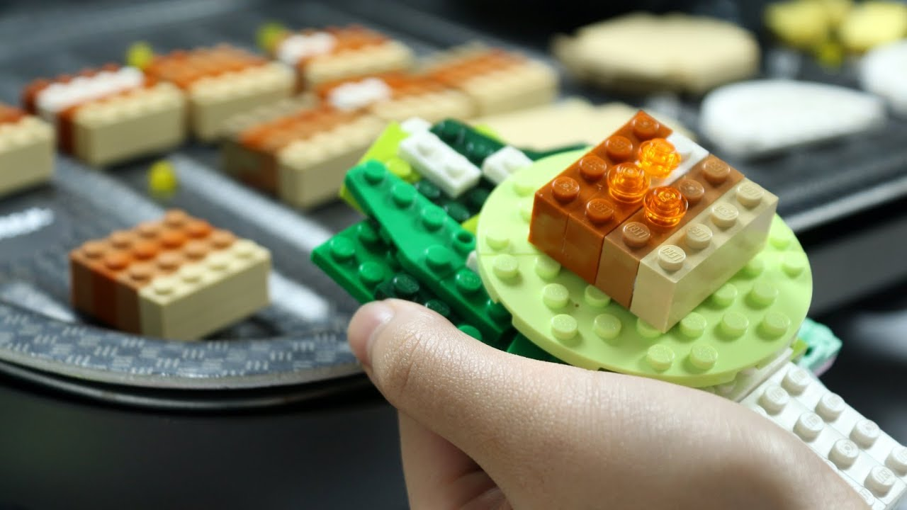 Lego Korean BBQ Samgyeopsal - LEGO in Real Life / Stop Motion