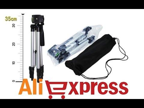Алюминиевый штатив для камеры из Китая (aliexpress) с регулировкой высоты
