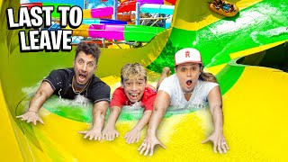 Last To LEAVE WATERSLIDE Wins Prize!! 💦 | The Royalty Family