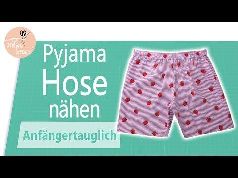 Pyjama Shorts - Hose nähen für Anfänger - ohne Schnittmuster