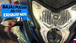 Bajaj Pulsar AS150 | Exhaust Note | PowerDrift